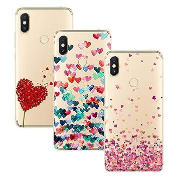 Young & Ming Xiaomi Redmi S2 Funda, [3 Pack] Carcasa Transparente Slilicona Suave TPU Gel Enjaca Perfecta para Xiaomi Redmi S2, Color 1
