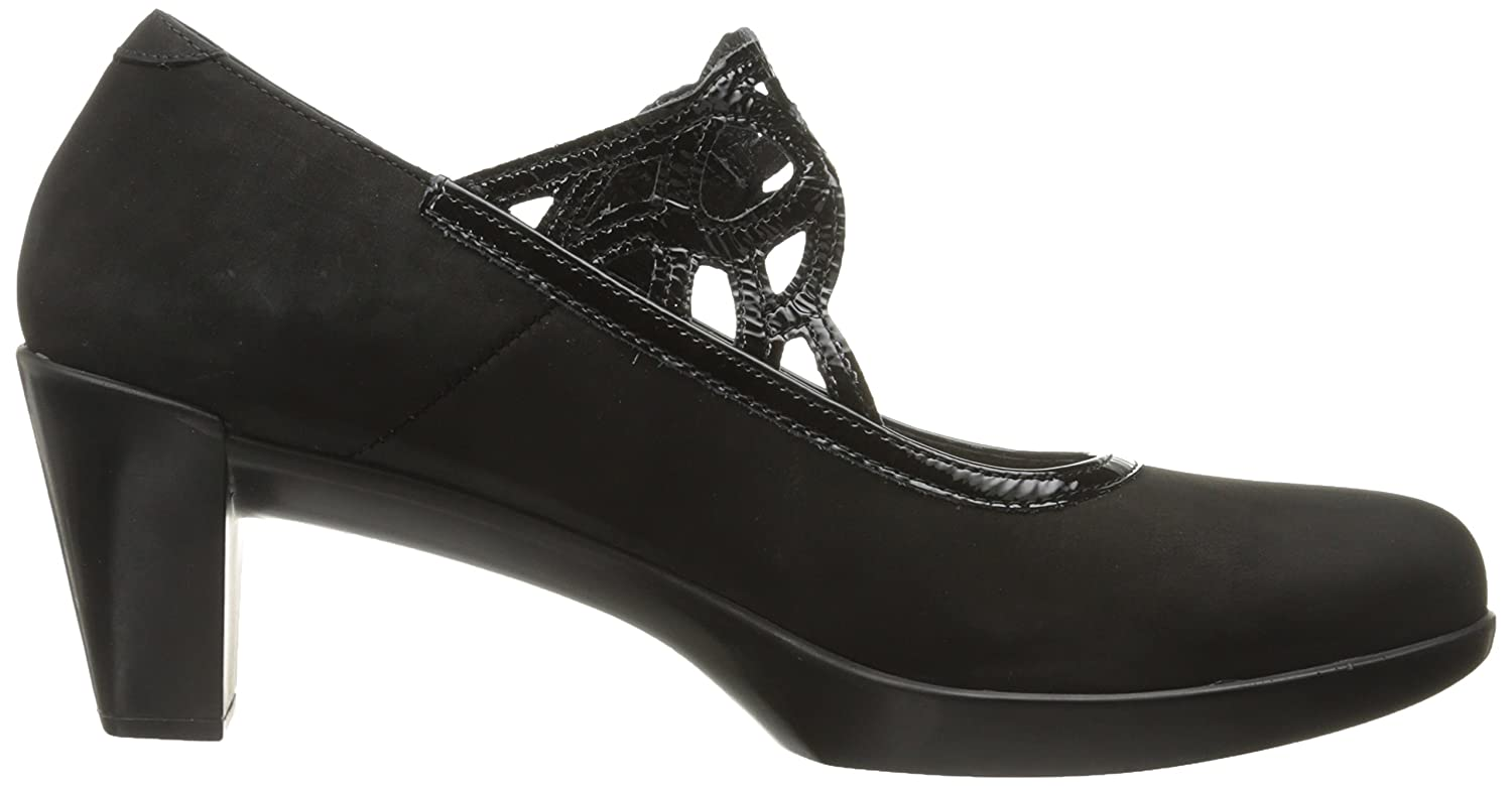 NAOT Women's Luma EU/8.5 Dress Pump B0075DR2WE 40 EU/8.5 Luma - 9 M US|Black Velvet Nubuck/Black Crinkle Patent 78576d