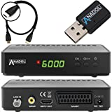 Anadol HD 200 Plus HD HDTV digitaler Satelliten-Receiver (Wifi, HDTV, DVB-S2, HDMI, SCART, 2x USB 2.0, Full HD 1080p, Youtube) [vorprogrammiert] inkl. HDMI Kabel - schwarz