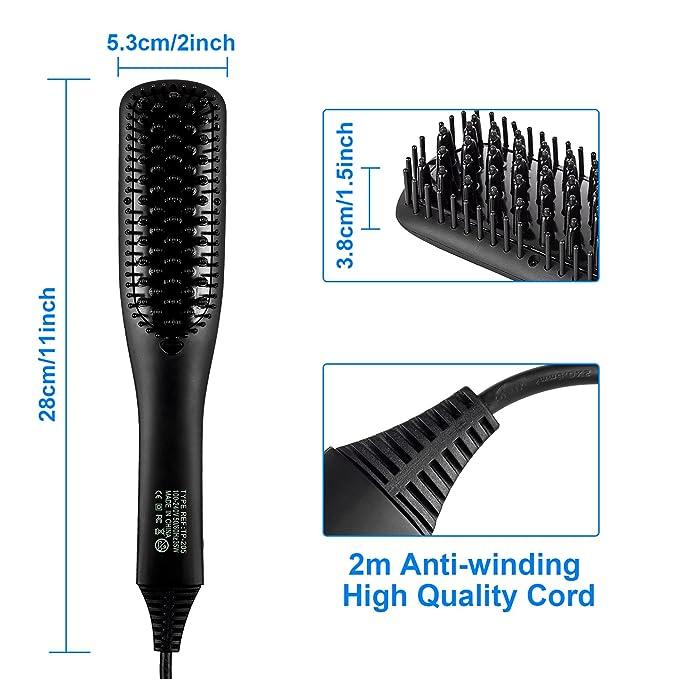 Cepillo alisador de pelo, iBeauTek 2 en 1 ionic Electric ...