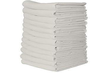 Linen and Towel - Paquete de 12 toallas de saco de harina para cocina, de algodón (71,1 x 71,1 cm): Amazon.es: Hogar