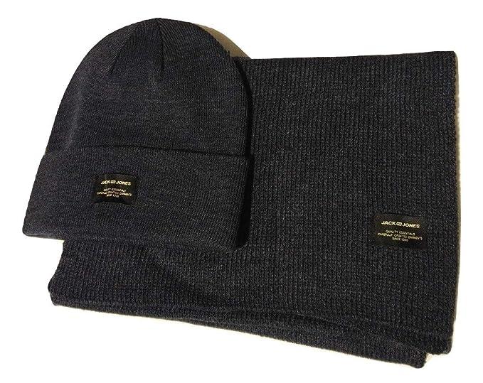 JACK   JONES GIFTBOX JACDNA Knit Cappello e Sciarpa Taglia Unica (Navy  Blazer) d9ebc79a8004