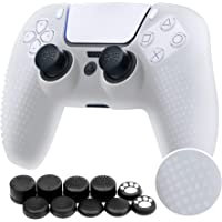 Benazcap Silicone Skin Accessories for Sony PS5 DualSense Wireless Controller Grip Covers Case with Anti-Slip Silicone…