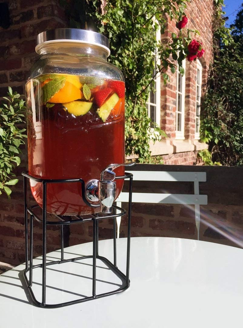 Garden Party Glass Drinks Dispenser With Stand Creative 7
