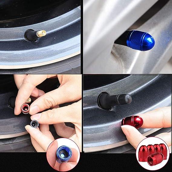 auto Coperture valvole universali per pneumatici Cappucci parapolvere per pneumatici Senven Cappucci con gambo valvola alta qualit/à alluminio moto bicicletta Evitare perdite daria 20pcs