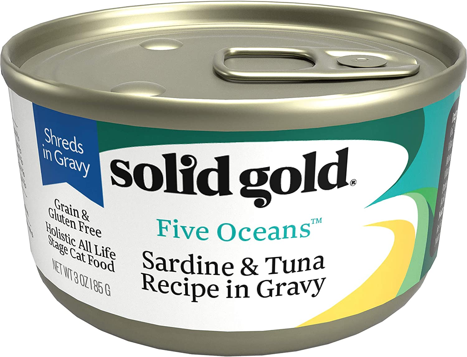 Solid Gold - Five Oceans Holistic Grain-Free Wet Cat Food for All Life Stages - Real Seafood with Gravy