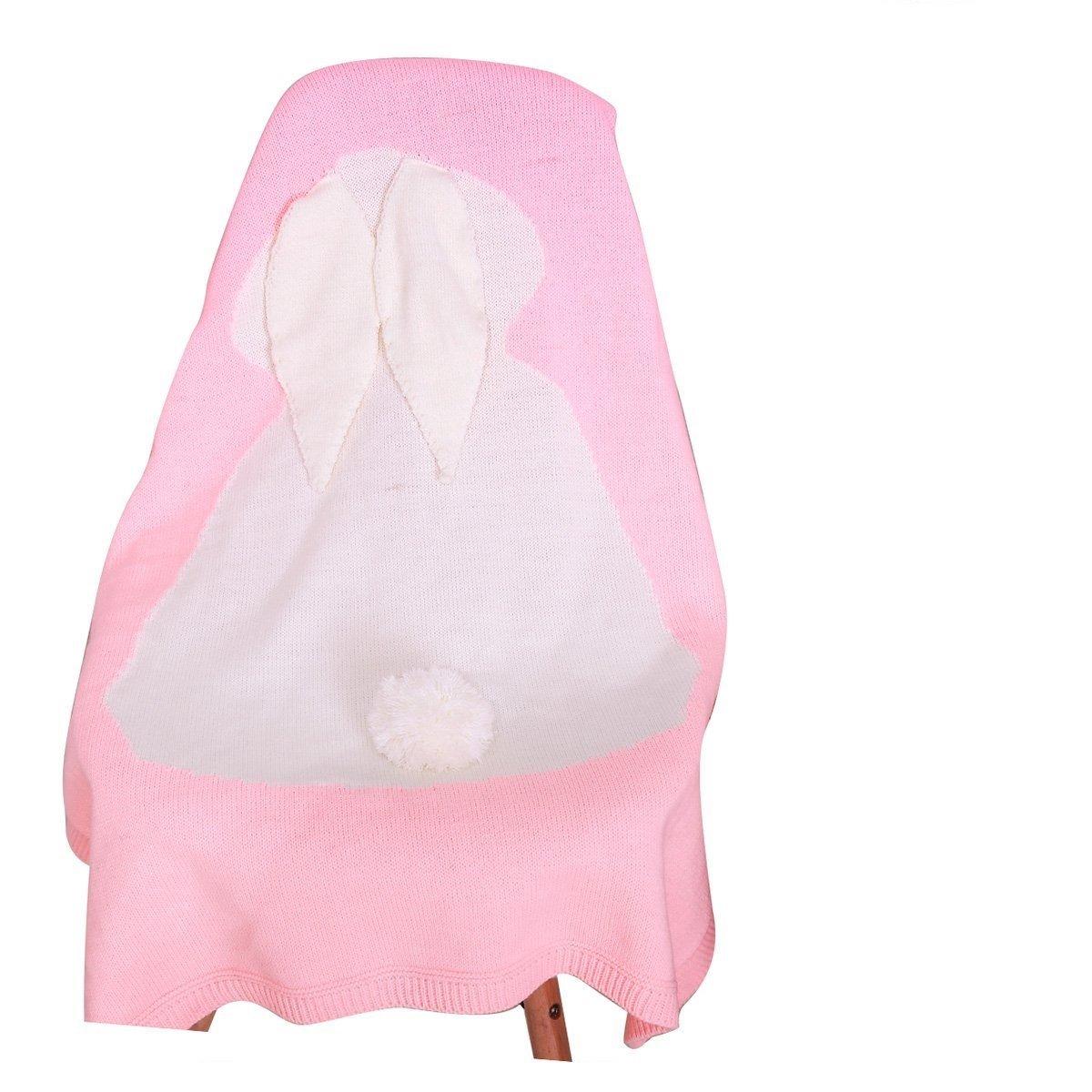 Bebé de lana para tejer Conejo manta hecho a mano sofá de ganchillo ...