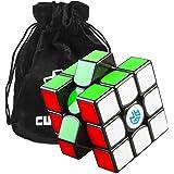 Cubikon Gan 356 Air SM (Superspeed Magneto) Zauberwürfel - GAN356 Air 3x3 Speed-Cube Gans 356-AIR SM (Magnetic Positioning) - Schwarz- inkl Tasche