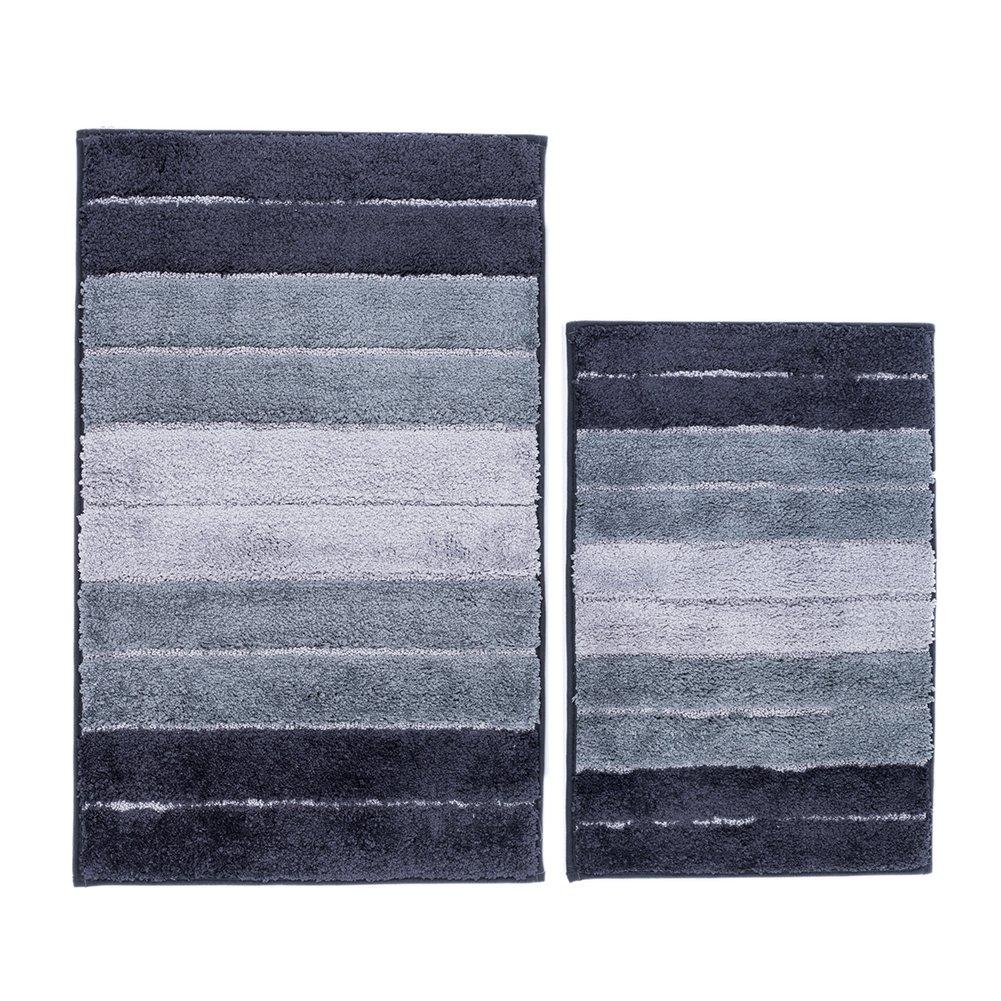 Bath Mat, Furnily Soft Shag Bath Rug 40x60 Kitchen Rug Door Way Feet Mat Non Slip Microfiber Absorbent Doormat Bathroom Shower Rugs (Brown)