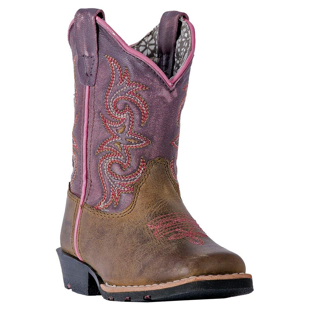 Dan Post Toddler-Girls Sand Tryke Leather Boot Square Toe
