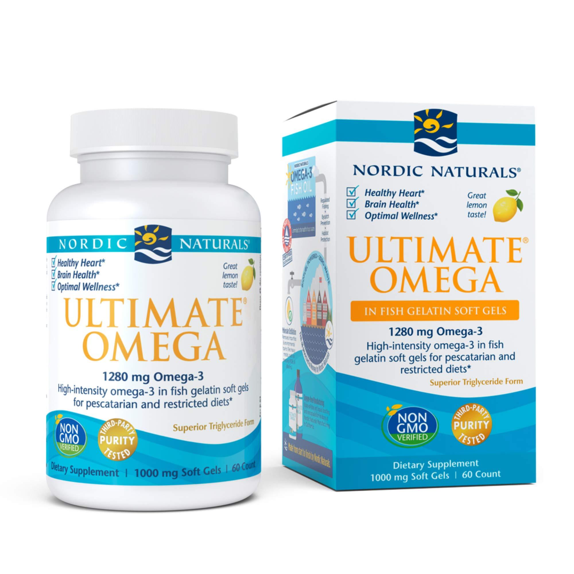 Nordic Naturals Ultimate Omega 60 Softgels, Lemon