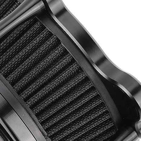 Terisass Luftfilter Cnc Aluminium Motorrad Motor Luftfilter Reiniger Motorrad Geändert Ansaugluftfilter Induktions Kit Ersatz Für Touring Fxdls Flstnse Flstse Fxsbse Auto