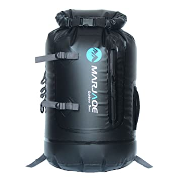 MARJAQE Premium 30 Litre Waterproof Backpack Dry Bag With Comfortable Black  Padded Shoulder Straps 1501 ( 6682077c99d26