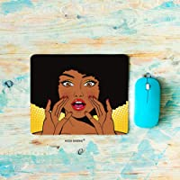 HGOD DESIGNS African Women Gaming Mouse Pad,Funny African Woman Shout Mousepad Rectangle...