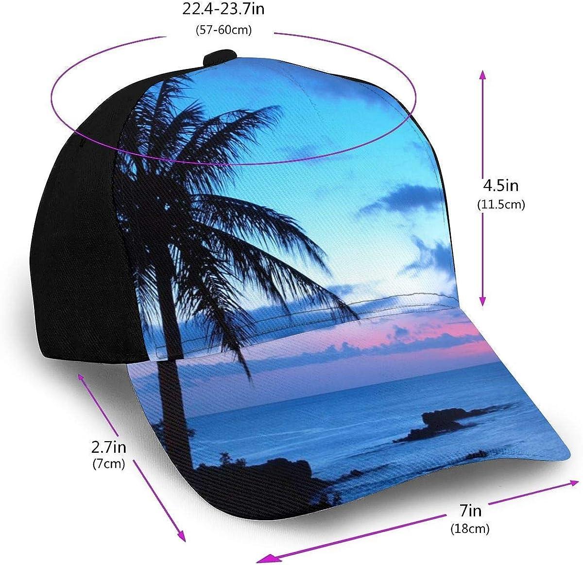 Hawaii Beach Blue Sunset Lightweight Unisex Baseball Caps Adjustable Breathable Sun Hat for Sport Outdoor