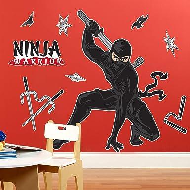 Cumpleaños Express - Ninja Warrior Party gigante etiquetas ...