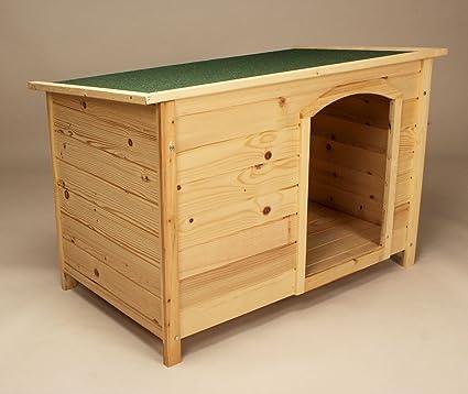 Caseta de perro Pet Casa Exterior Madera Maciza Home techo de fieltro verde Pet Shelter