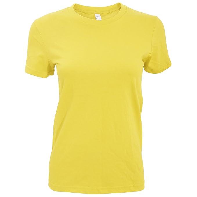 American Apparel- Camiseta Lisa de Manga Corta para Mujer  Amazon.es  Ropa  y accesorios 91c62e5ef8e