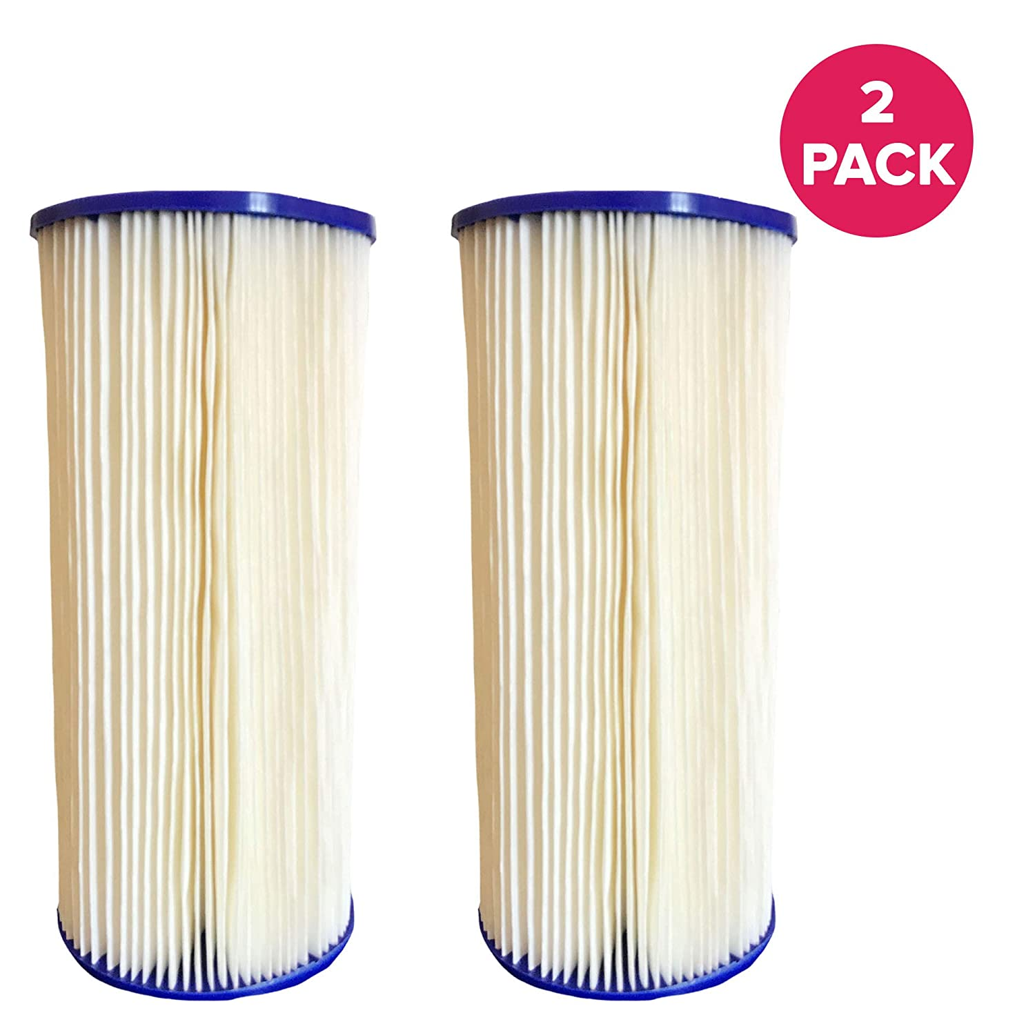 Think Crucial Replacement Water Filter Compatible with GE FXHSC Whole House Pre-Filtration Sediment Filter Bulk Pentek R50-BB Dupont WFHDC3001 4 Pack Fits Most GE Models Culligan R50-BBSA