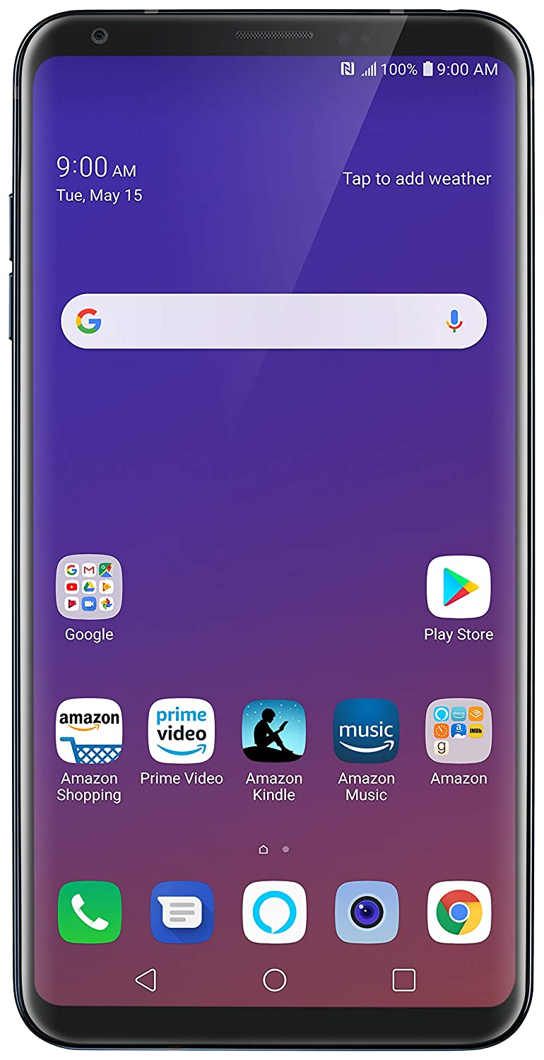 LG V35 ThinQ with Alexa Hands-Free – Prime Exclusive Phone – Unlocked – 64  GB – Aurora Black