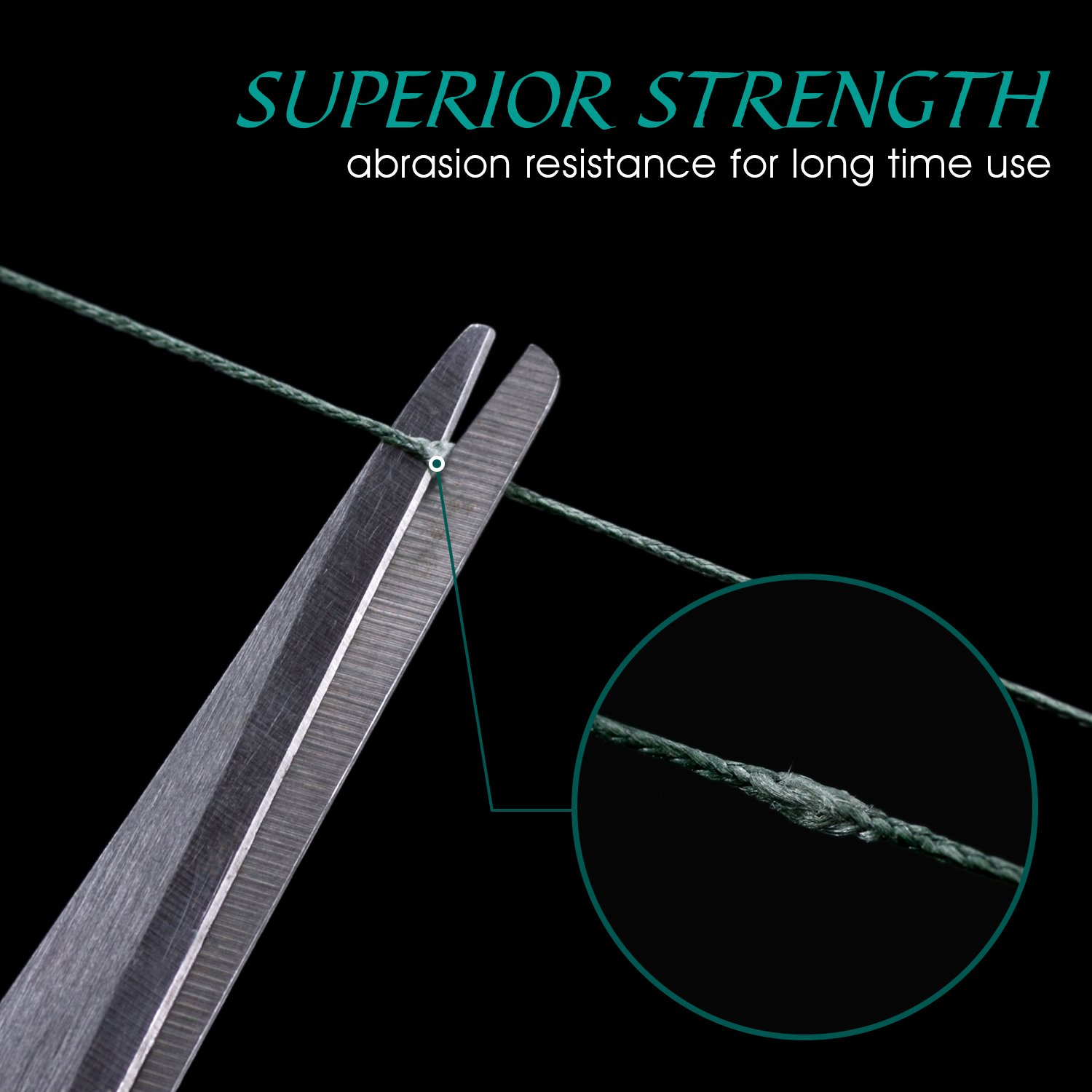 Braided Fishing Line, Super Strong Abrasion Resistant Fishing Line for Freshwater & Saltwater Fishing (1 Pack)