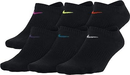 Tentación Malversar Inmunizar  Nike Everyday Lightweight No-Show Training Calcetines (6 Pares) Calcetines  para Mujer, color Multi-Color, M: Amazon.com.mx: Deportes y Aire Libre