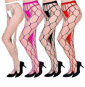 f72b29fb3f507 Amazon.com: YTX Tall Waist Tight Pants Prismatic Fishnet Stockings  Stockings Thigh High Stockings Lingerie no Fork Socks: Clothing