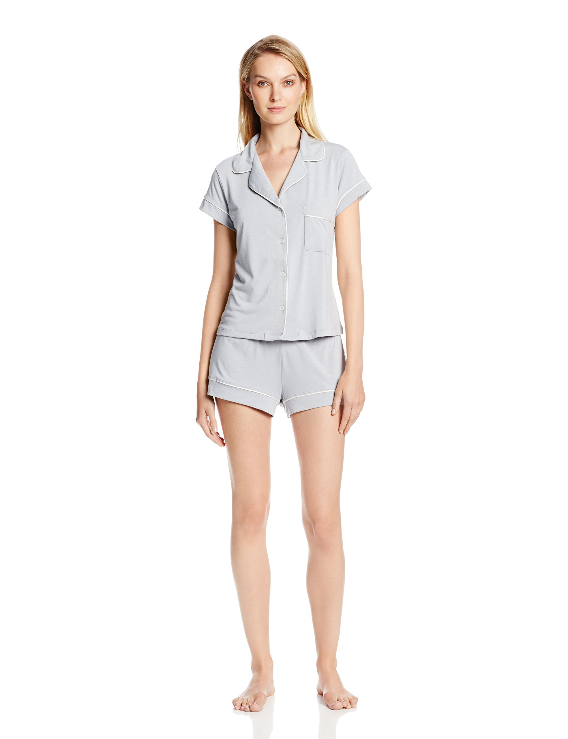 Eberjey Women's Gisele Short Pajama Set, Water Blue, Small