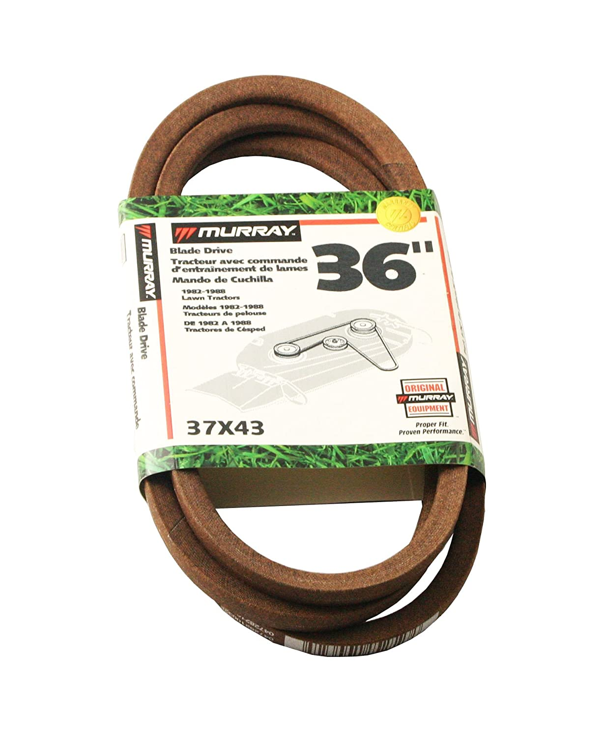 Murray 37x43ma Blade Drive Belt For Lawn Mowers Tractor Wiring Harness Garden Outdoor