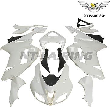Motorcycle Unpainted White ABS Plastic Fairing Kit Cowl Bodywork Set Fits for KAWASAKI Ninja ZX6R ZX-6R ZX 6R 636 2007 2008 07 08 24 PCS Set