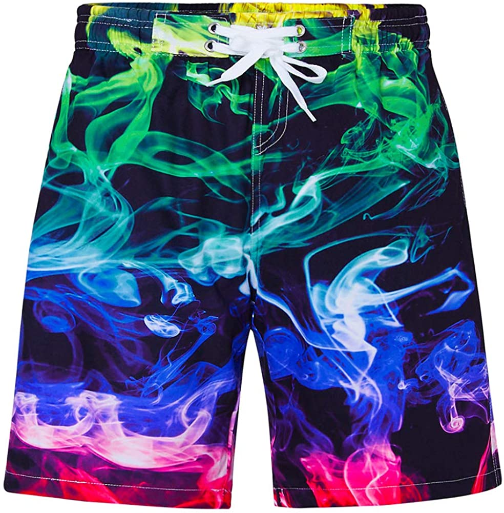 Mens Quick Dry Swim Trunks Colorful Cats Wearing Sweaters Beach Shorts
