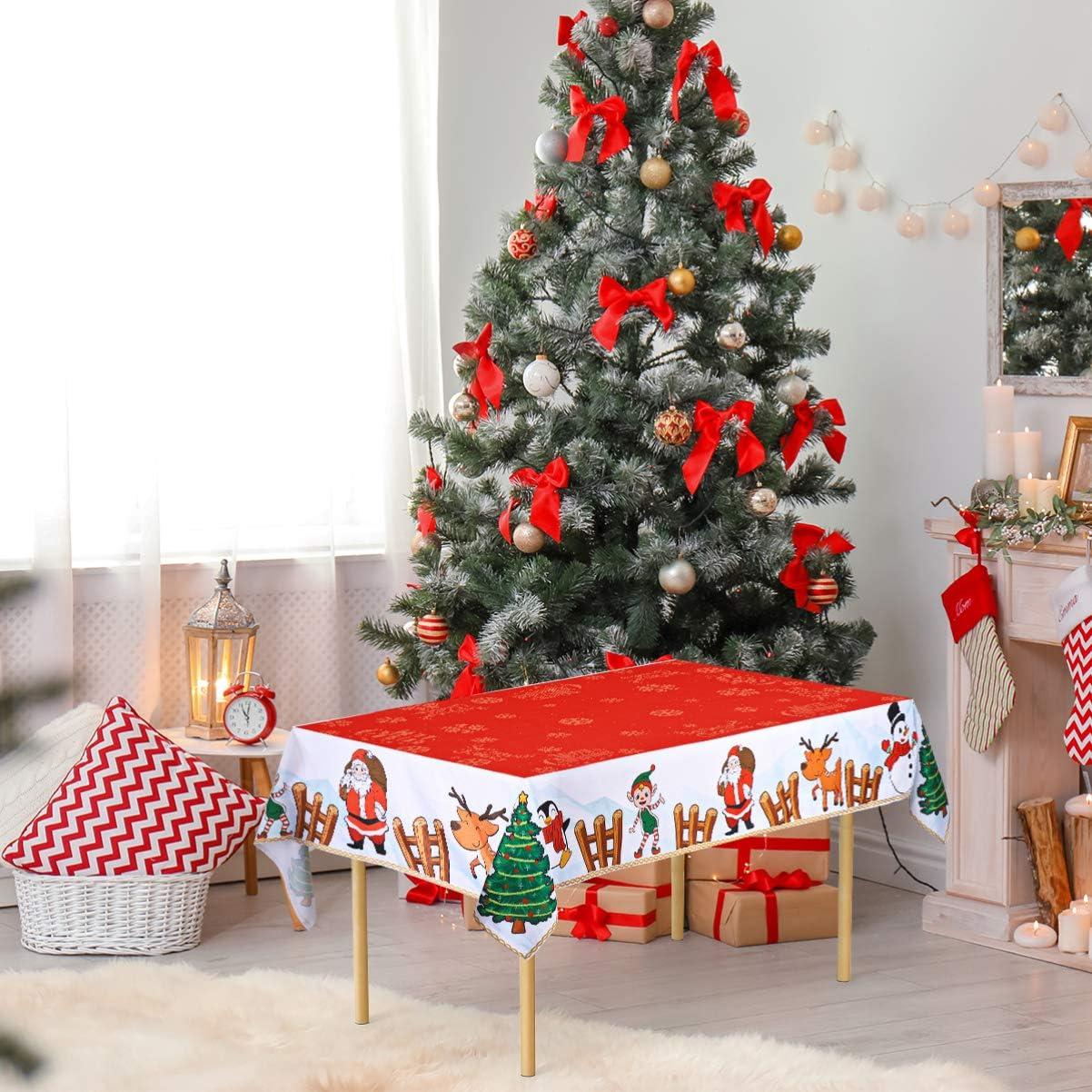 Mantel de Navidad Hemoton dise/ño navide/ño 84 x 60 cm
