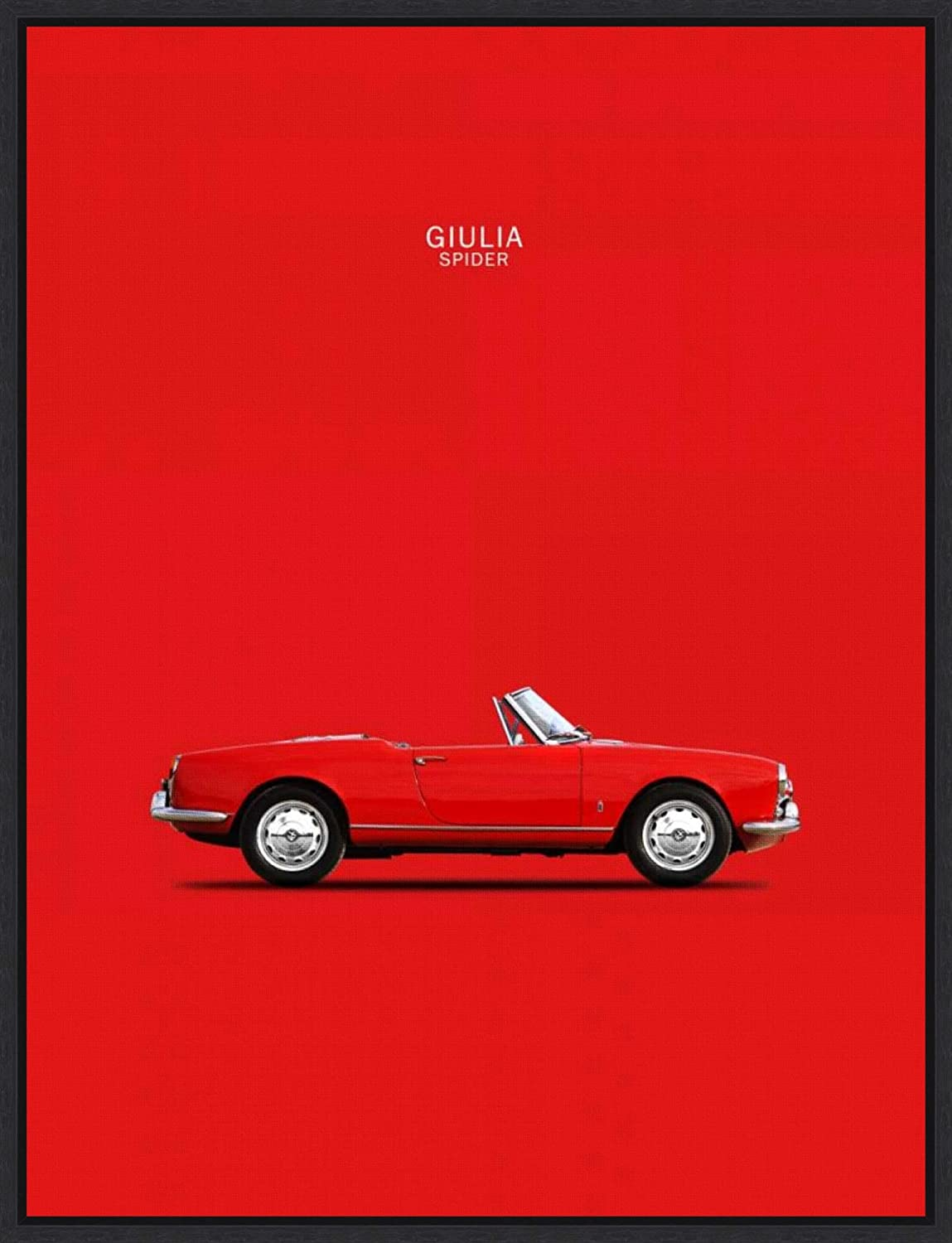 Framed Canvas Wall Art Print | Home Wall Decor Canvas Art | Alfa Romeo Giulia Spider 1964 by Mark Rogan | Modern Decor | Stretched Canvas Prints 18.00 x 23.50 in.