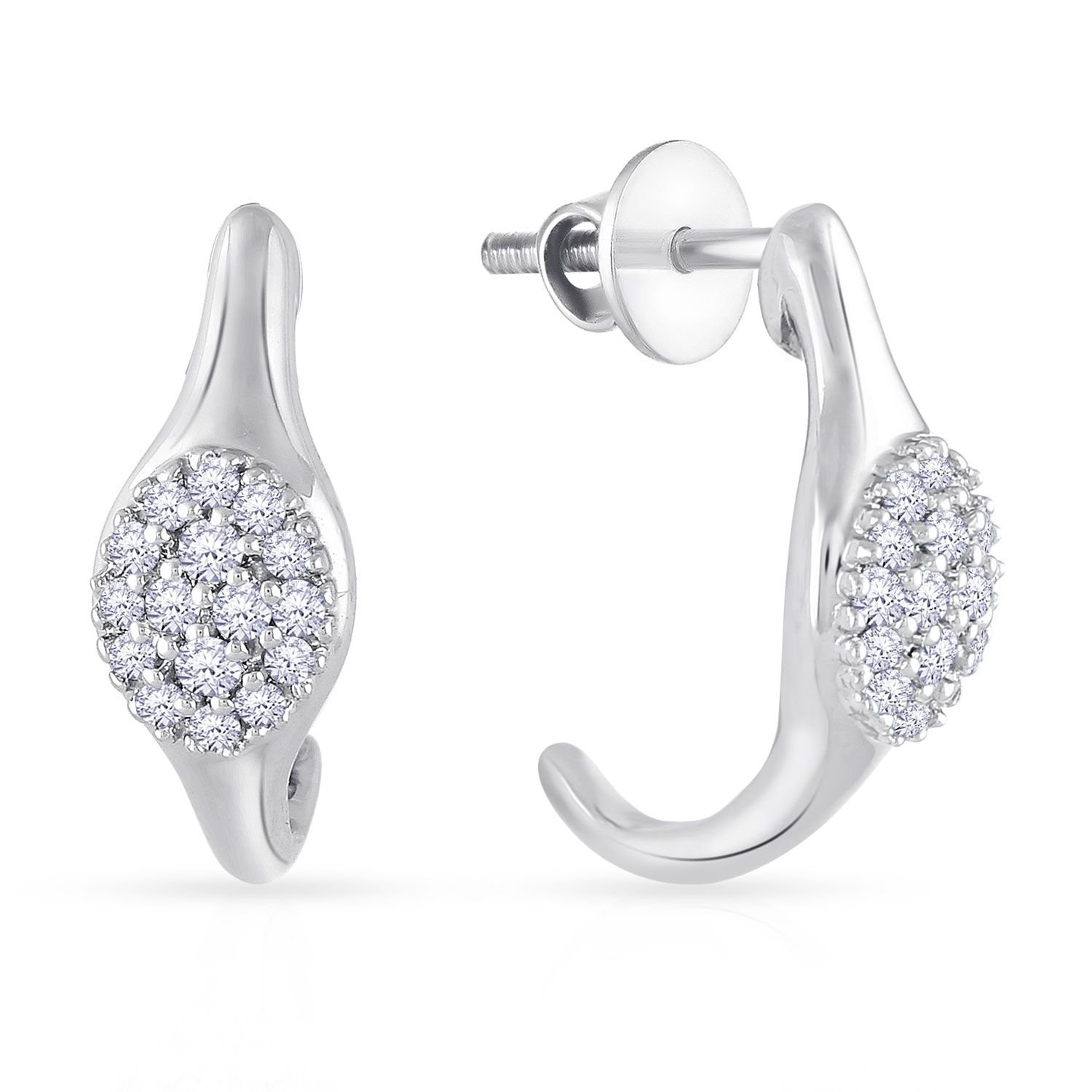 Buy Malabar Gold and Diamonds 950 Platinum Stud Earrings for Women