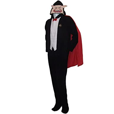 Primark Mens Sleepsuit Dracula Vampire Halloween Adult Onesie X-Small Black