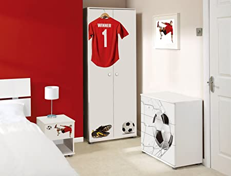 red and white bedroom furniture. Red Football Design Childrens/Kids White Bedroom Furniture Sets And