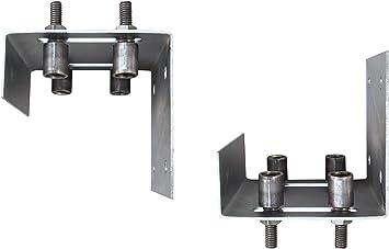 Lote de 2 bloques de guía ancha cada uno con 4 rodillos de acero Ø25 mm, guía para puerta corredera (30198 x 2 + 30068 x 8): Amazon.es: Bricolaje y herramientas