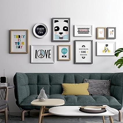 Para colgar cuadros moderno Simple marco de madera maciza relojes y ...