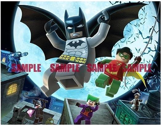 Remarkable Amazon Com Sdore Batman Robin Birthday Party Edible 1 2 Half Personalised Birthday Cards Vishlily Jamesorg