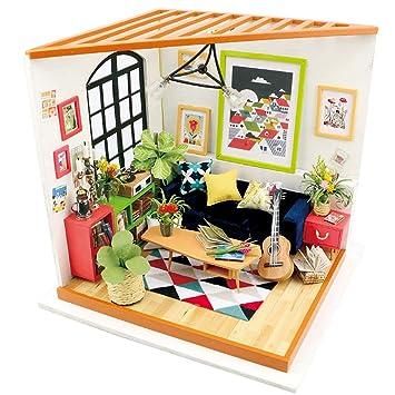Lvpy Maison De Poupée Miniature Bricolage Maison Kit éducatif à La
