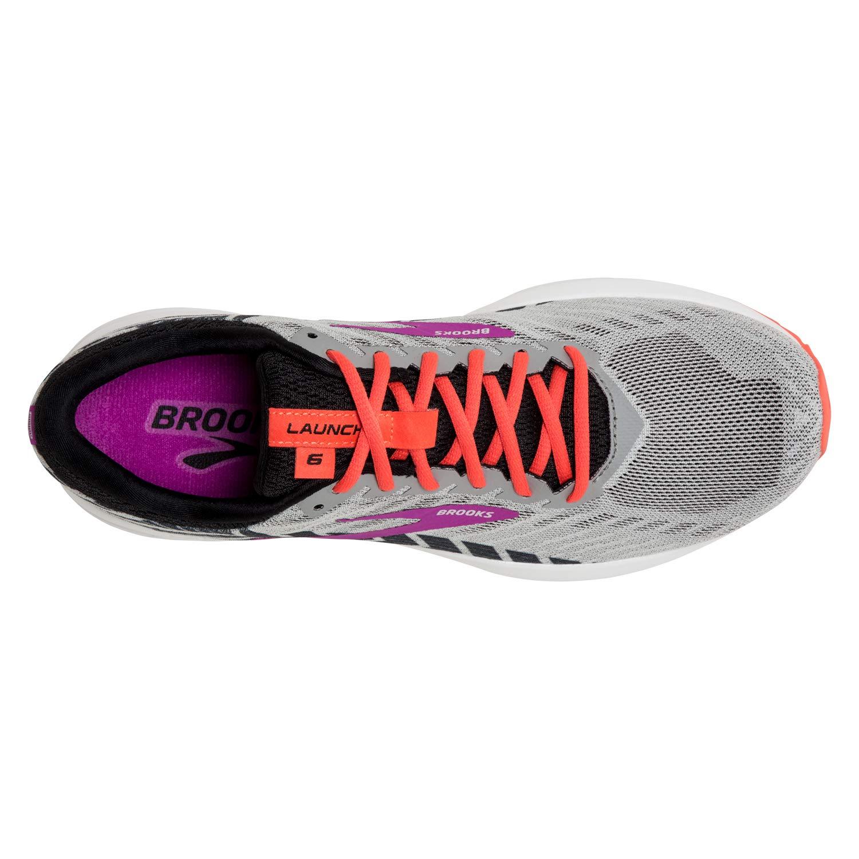 gris gris gris noir violet Brooks Launch 6, Chaussures de FonctionneHommest Femme 5a2