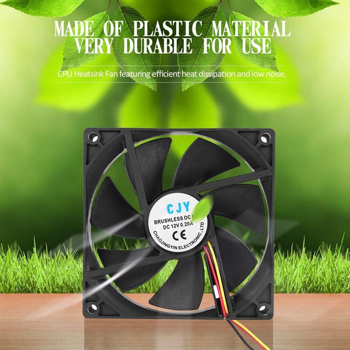 1pc 12V 3-Pin 9cm 90 x 25mm 90mm CPU Heat Sinks Cooler Fan DC Cooling Fan 65 CFM Fast Free