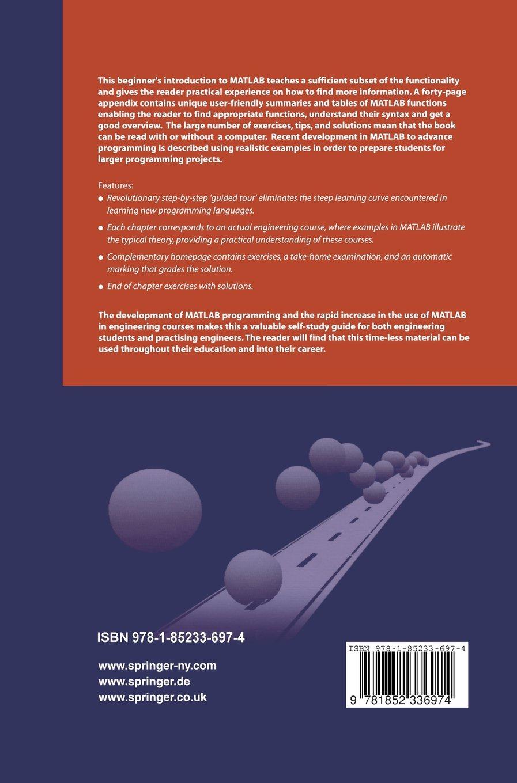 MATLAB for Engineers Explained: Fredrik Gustafsson, Niclas Bergman:  9780060451356: Amazon.com: Books