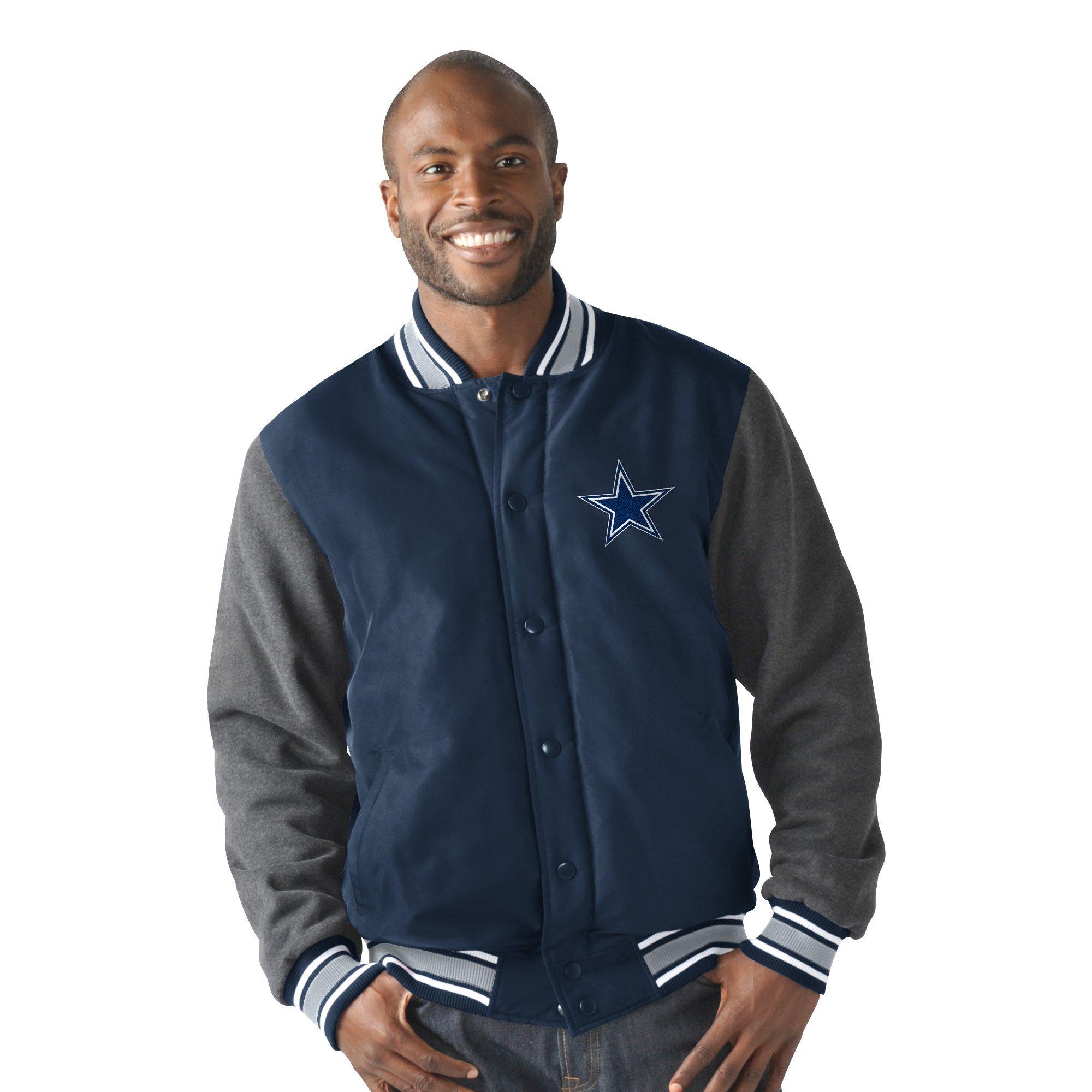 Dallas Cowboys Varsity Legend Poly Taslan and Cotton Jersey Jacket