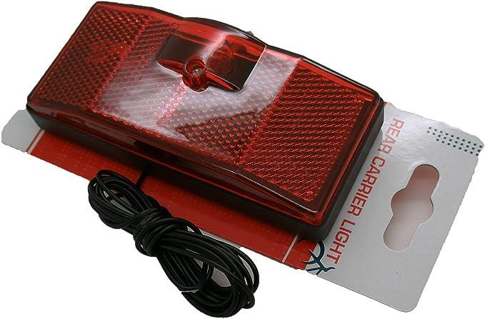 Luz Foco Trasero para Portabultos Transportin Bicicleta con Cable de Dinamo 3243: Amazon.es: Deportes y aire libre