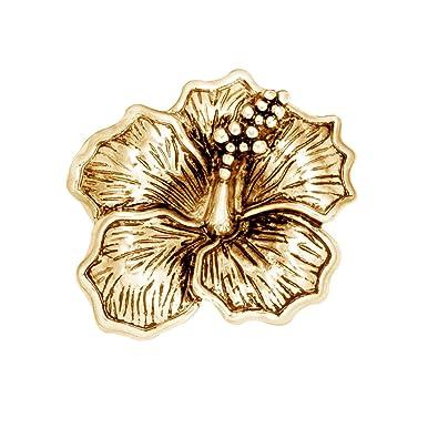 Amazoncom Senfai Hibiscus Flower Magnetic Clip Holder Brooch