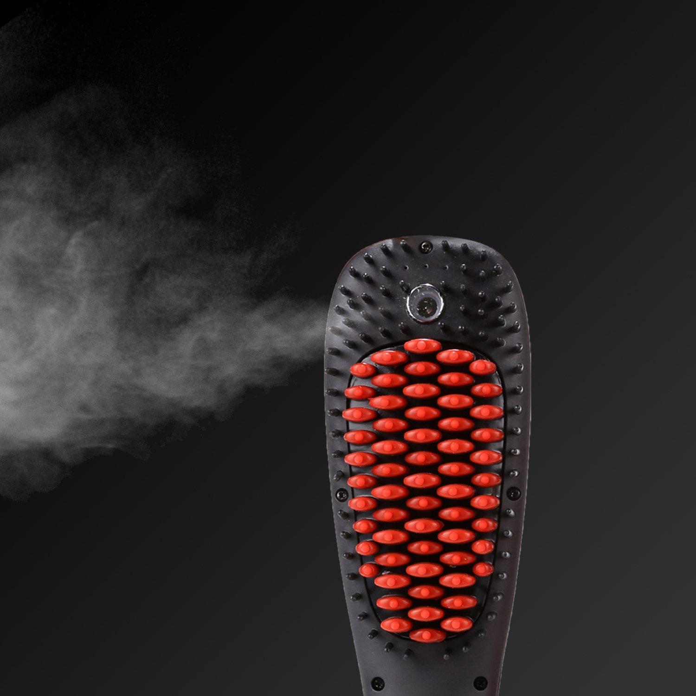 ACEVIVI Cepillo Alisador de Pelo Automático Eléctrico con la Función Spray Cepillo de Pelo de Iones Profesional y Antiestático Cepillo de Aire ...
