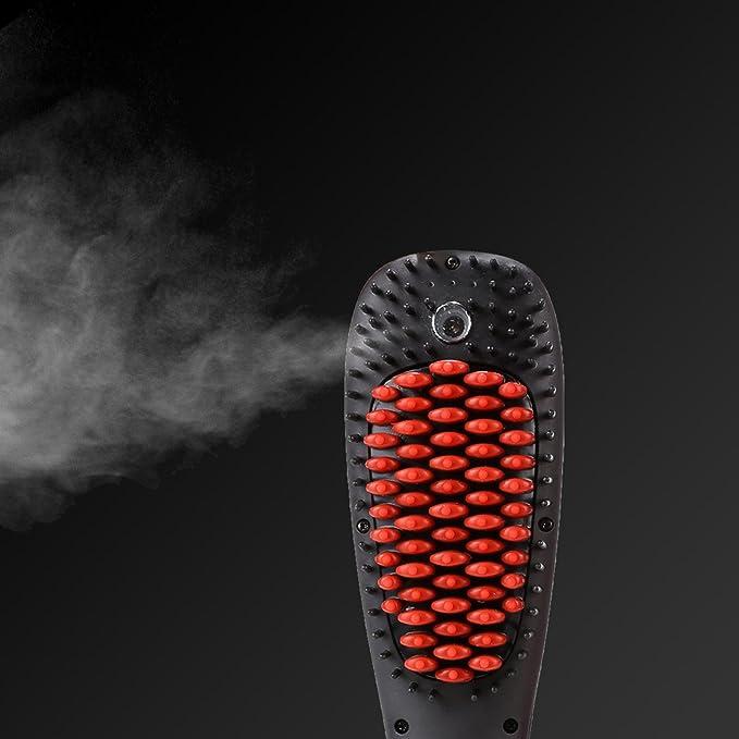 ACEVIVI Cepillo Alisador de Pelo Automático Eléctrico con la Función Spray Cepillo de Pelo de Iones Profesional y Antiestático Cepillo de Aire Caliente ...