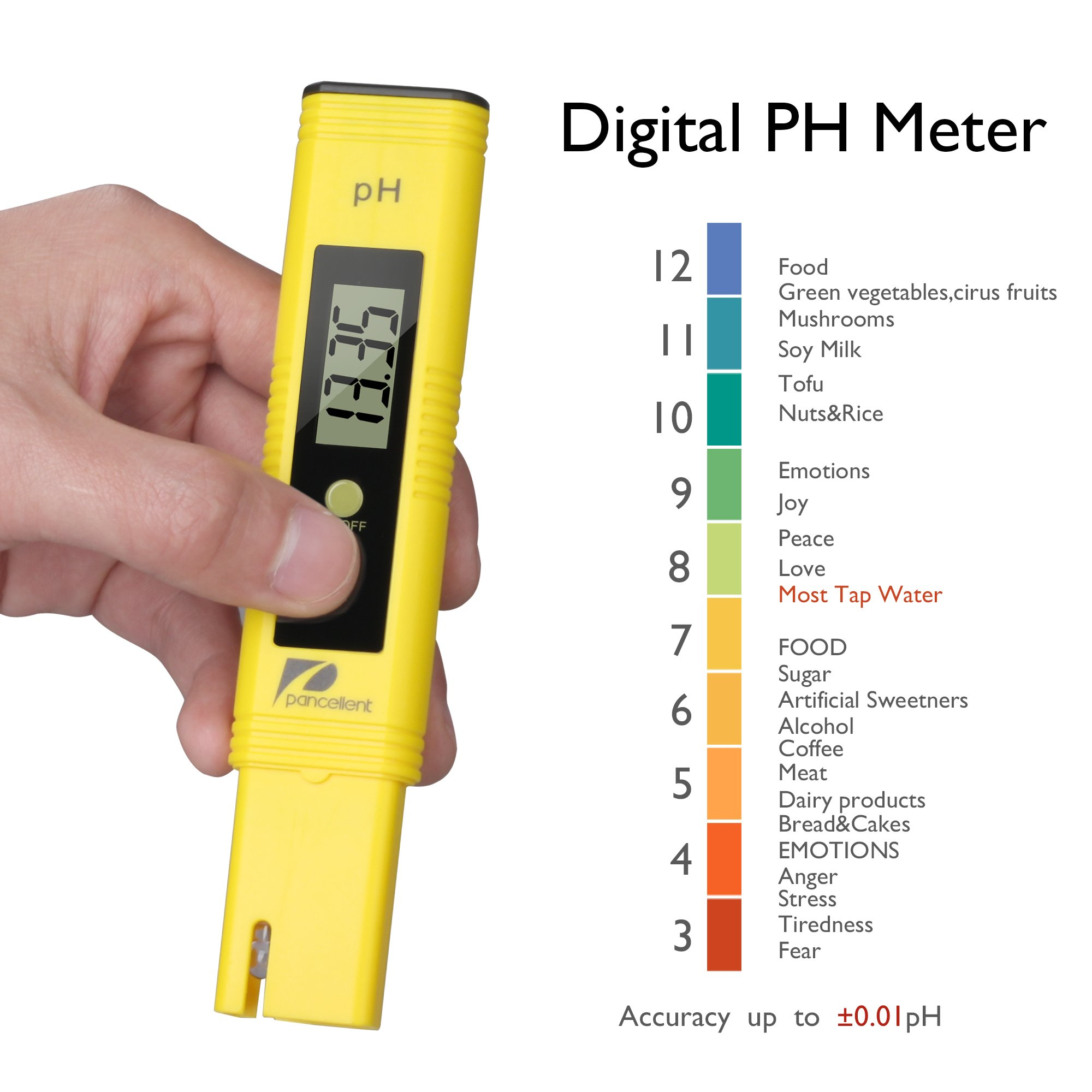 Water Quality Test Meter Pancellent EC PH 2 in 1 Kit 0-9990us/cm Electrical Conductivity 0.01pH Resolution 0.01pH Accuracy by Pancellent (Image #5)