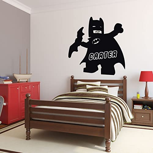 Amazoncom Personalized Wall Decals Lego Batman With Name In - Superhero vinyl wall decals